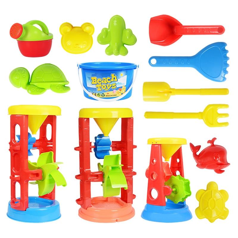 Sand Water Beach Play Toys Set Kids Children Seaside Bucket Shovel Rake Kit Building Sea Horse Molds