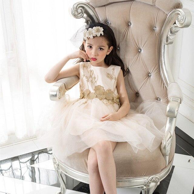 Formelle fille robe champane or mini de no l enfant parti - Noel fille 8 ans ...