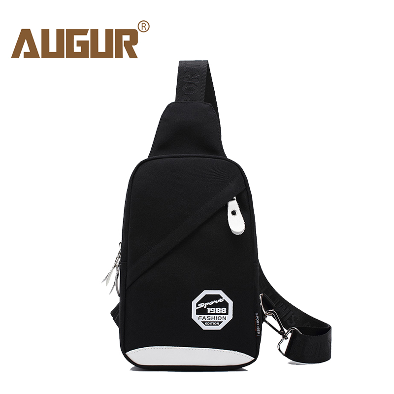 AUGUR New Men Crossbody Bag Oxford Shoulder Bag Waterproof Small Male's Messenger Bag Famous Brand Casual Travel Chest Bag wome augur fashion men shoulder bag leather canvas travel messenger bag document crossbody bag high quality small business men s bag
