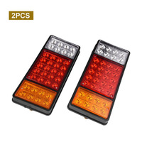 Newest 2pcs Durable Long Life Waterproof Dustproof Shockproof 36 LEDs Truck Taillights Stop Rear Turn Indicator