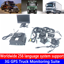 Global language support AHD720P hd video Monitoring 3G GPS Truck Suite remote driving record host