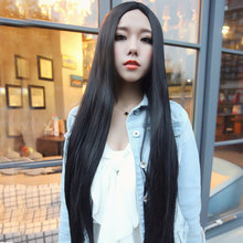 70 Cm Female's Harajuku Brown Wigs For Anime Cosplay Party Long Straight Black Heat Resistant Synthetic Wig Women Perruque W120