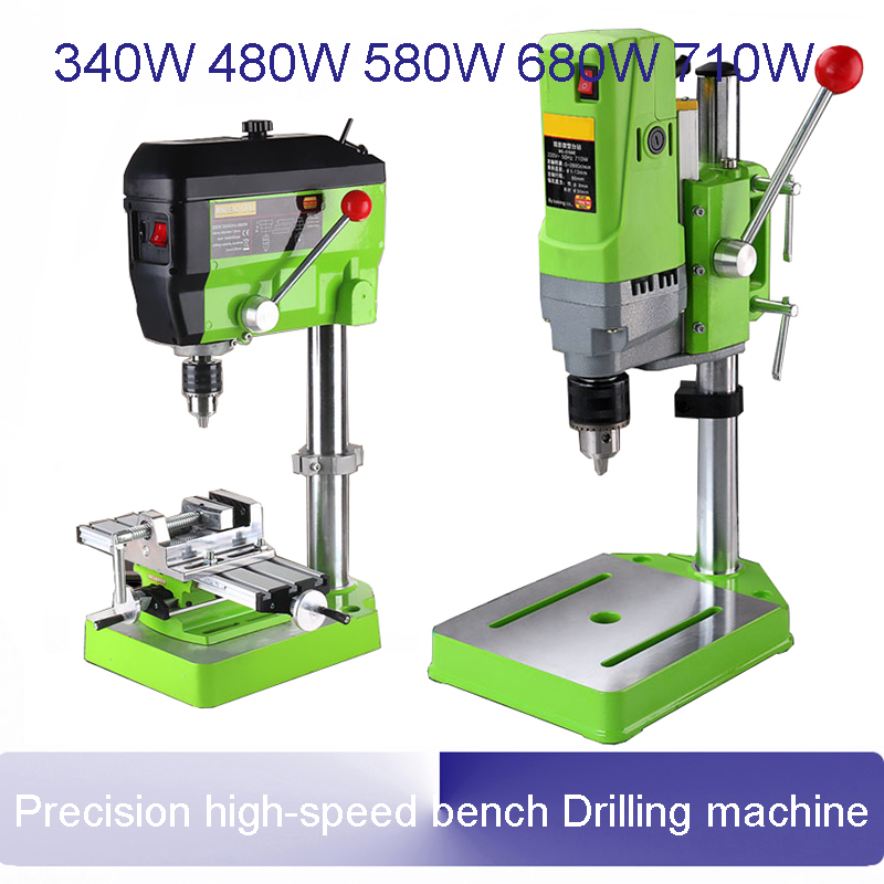 Mini bench drill Precision high-speed bench Drilling Milling machine Buddha beads making machine Small household tools 13mm the cello guitar making special holder precision tools make gourmet 30p