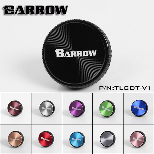 Barrow  G1/4'' White Black Silver Multicolor CD pattern composite water cooling blank nozzle plug TLCDT-V1
