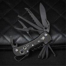 Черный Многофункциональный швейцарский нож, многоцелевой армейский складной карманный нож для кемпинга, выживания, инструмент для повседневного использования