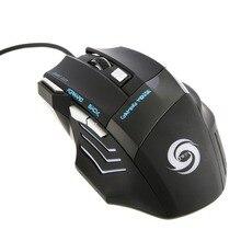 Новая игровая мышь, 7 кнопок, светодиодный, оптическая, USB, проводная, эргономичная, компьютерная мышь
