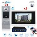 7 ''сенсорный экран WIFI видео домофон IP видеодомофон для здания система контроля доступа Поддержка Пароль/IC карта с переключателем