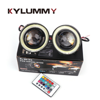 KYLUMMY Car LED RGB Angel Eyes Fog Light Bulb R500 2 5 3 0 3 5