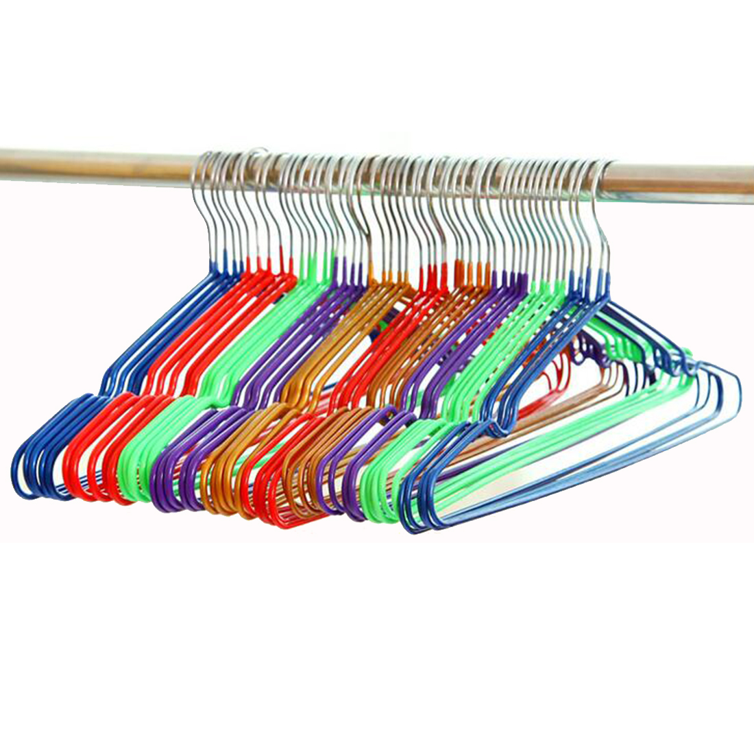 10pcs/lot 40cm Anti-skid drying and drying plastic hangers for clothes rack stainless steel hanger adult clothing rack