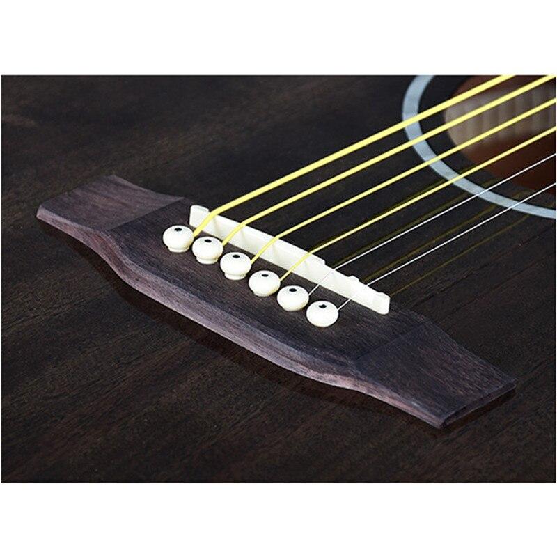 Guitare guitariste 40 41 pouces guitare acoustique bois d'acajou finition brillante touche palissandre guitarra avec cordes de guitare - 5