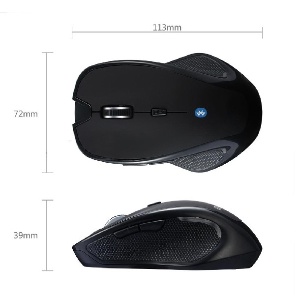 Etmakit new Mini Wireless Bluetooth 3.0 6D 1600DPI Optical Gaming Mouse Mice Black Laptop PC Computer Peripherals