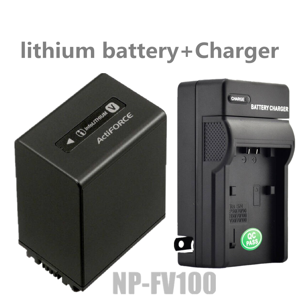 NP-FV100 NP FV100 lithium batteries+charger NPFV100 Digital camera battery For Sony NP FV70 FV50 HDR CX150E CX170 CX300 CX760 dste fh100 fh50 fh70 fv100 fv70 fv50 fp50 fp90 fp100 battery charger for sony video camera more
