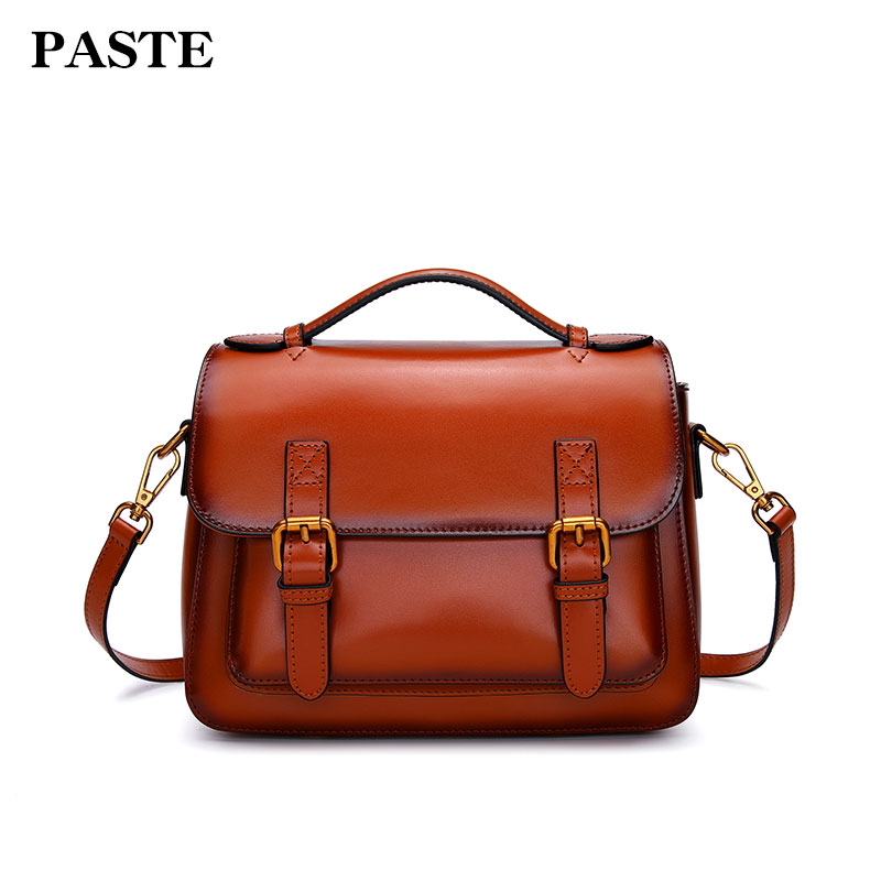 Paste Women Handbags Vintage Crossbody Messenger Bag New Leather Shoulder Bags Square 2018 Brand Lady Solid Small Flap 3051 free shipping new fashion brand women s single shoulder bag lady messenger bag litchi pattern solid color 100