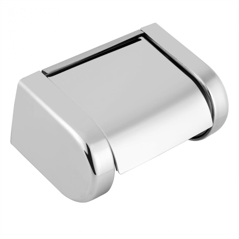 Modern Design Stainless Steel Roll Paper Holders Bracket Wall Mount Roll Tissue Towel Rack Shelf Bathroom Accessories