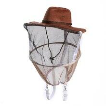 הסוואה כובע כוורות כוורן כובע יתושים דבורה נטו רעלה מלא פנים צוואר כיסוי חיצוני באג Mesh מסכת ראש מגן כובע