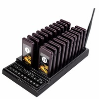 Restaurant Wireless Guest Paging Queuing System With 1 Transmitter 20 Chargeable Pagers F9401A