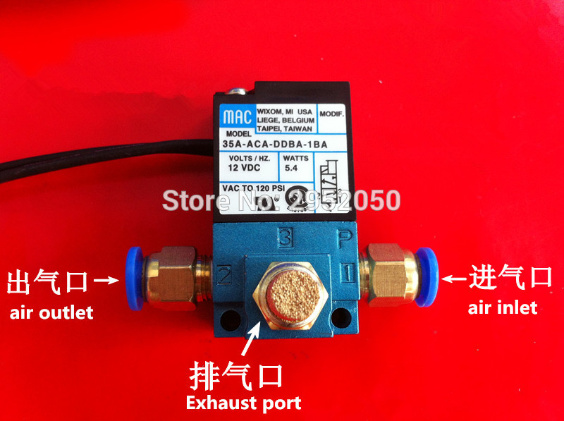 MAC 3 Port Electronic Boost Control Solenoid Valve 35A-ACA-DDBA-1BA With Brass Silencer 3d room wallpaper custom mural non woven wall sticker golden vase green pink flower painting photo murals wallpaper for walls 3d