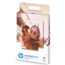 20Sheets/Box Zink Photo Paper 5.8*8.7cm (2.3x3.4-inch) for HP Sprocket Plus Photo Printers Sticky-Backed Portable Printing цена и фото