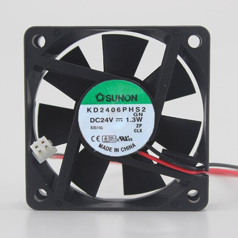 6015 24V 1,3 W 6 см инвертор Вентилятор KD2406PHS2. GN