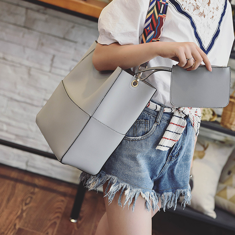 Aliexpress Color Wide Shoulder Straps Bag For Women Handbags Leather Messenger Bags European Style S Tote Bucket 633 From