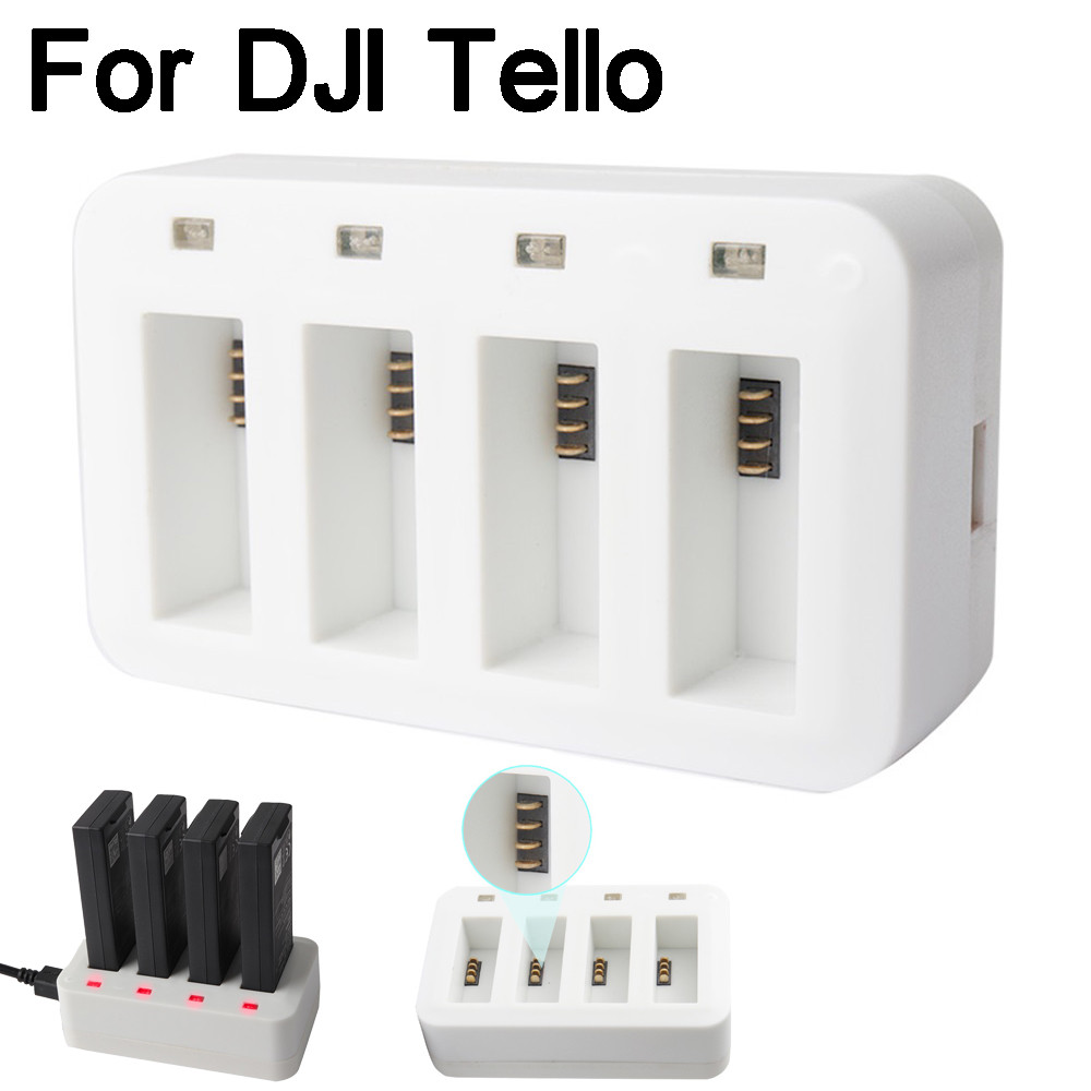 Charge rapide pour DJI Tello Drone 4 in1 Multi Batterie Charge Hub Intelligent Rapide De Charge pour DJI Tello Drone JL.3