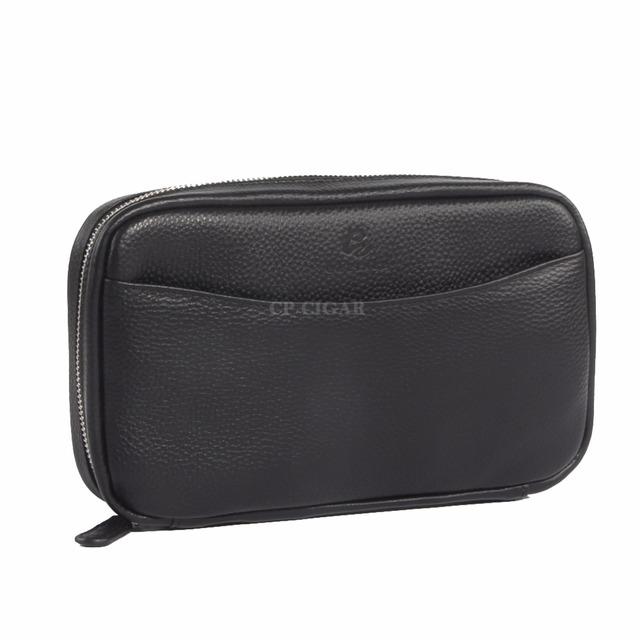 GALINER Genuine Leather Case Men  Travel Cigar Humidor