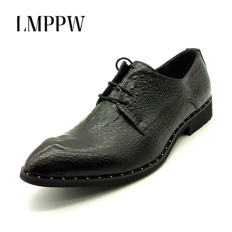 Luxury Brand Male Crocodile Genuine Leather Shoes British Fashion Pointed Toe Wedding Party Shoes Popular Men Oxfords Black Gold цены онлайн