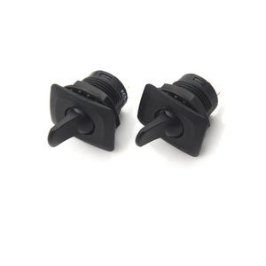 Image 3 - 2pcs Black Color SCI R13 402 ON ON 3Pin 2Position Maintained Round Toggle Switch SPDT Panel Mount Wholesale