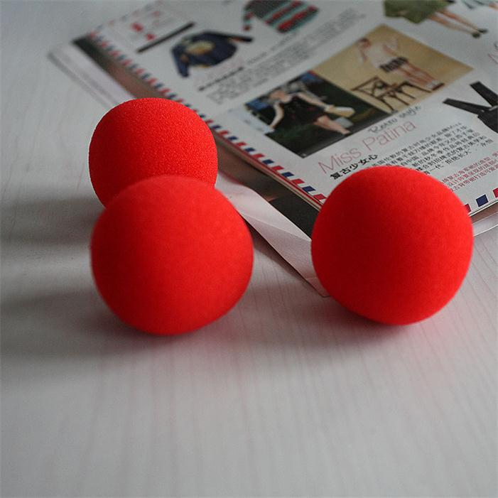 Soft Red 10pcs/lot Diameter 4.5CM Fashion Close-Up Magic Sponge Ball Brand Street Classical Comedy Trick image
