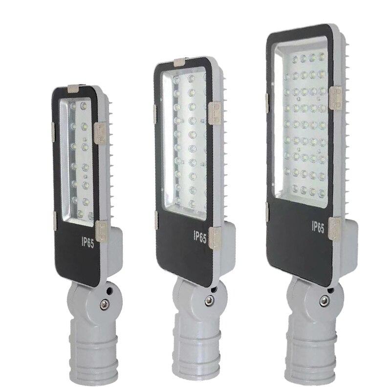 Outdoor lighting street lights led lamp adjustable interface pole led street light 20w 30w 50w for sale 10pcs