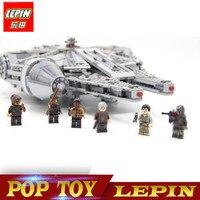 LEPIN 05007 New Star Wars Millennium Falcon Toys Educational Building Blocks Marvel Kids Toy Compatible Legoed