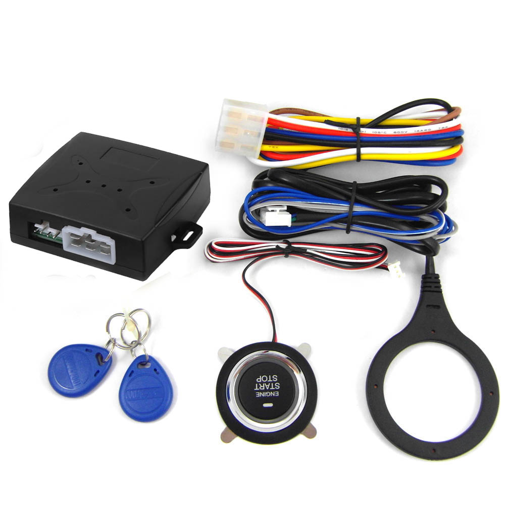9002B 12 v Voiture smart key push start stop système avec RFID Moteur De Voiture Doigt-Poussoir de Démarrage