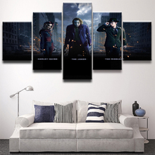 Canvas Print Painting Modern Decor Home Wall Art Pictures 5 Panels The Dark Knight Movie Poster  Decor Batman Harley Quinn Joker fvip new arrival dc comics wallet the dark knight batman the joker why so serious and harley quinn short wallet dollar price
