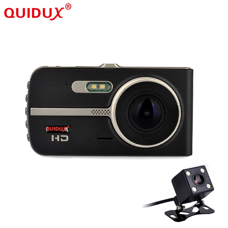 QUIDUX New Novatek 96655 4.0 IPS Car DVR camera dash cam automobile video recorder Night vision Dual Lens camera DVRs recorder