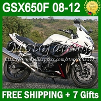 7gifts For SUZUKI GSX650F 08 12 GSX 650F GSX650 F black GSXF650 #312 08 09 10 11 white black 12 2008 2009 2010 2011 2012 Fairin