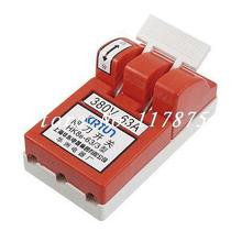 AC 380V 63Amp Red Shell 4.5mm Mount Hole Opening Load Knife Disconnect Switch