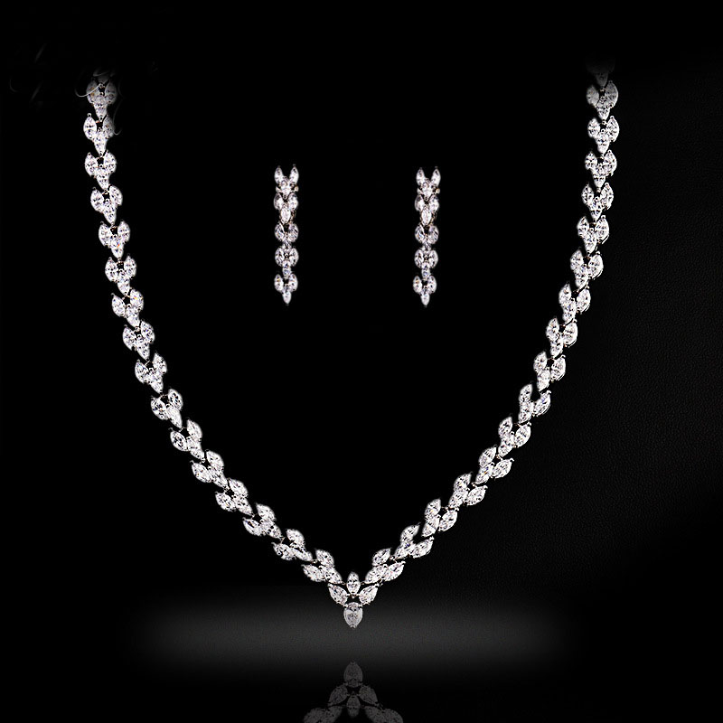 Best New Cz Diamond Jewelry Set Brands And Get Free Shipping Bj4372a9
