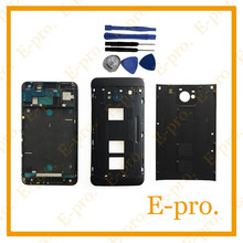 New Full housing Cover Case Door For HTC One M7 802w 802t 802d (Dual Sim) Battery Cover +Middle Frame +Faceplate