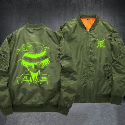 New arrival ONE PIECE Luminous bomber jacket Luffy Cosplay Costumes Baseball coat spring autumn Anime Windbreaker jacket 061002