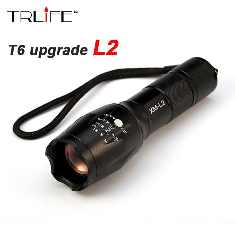 CREE XM-L2 8000 Lumen Taktische Taschenlampe cree Led Taschenlampe Zoomable-led taschenlampe Für 3 xAAA oder 1x18650 wiederaufladbare