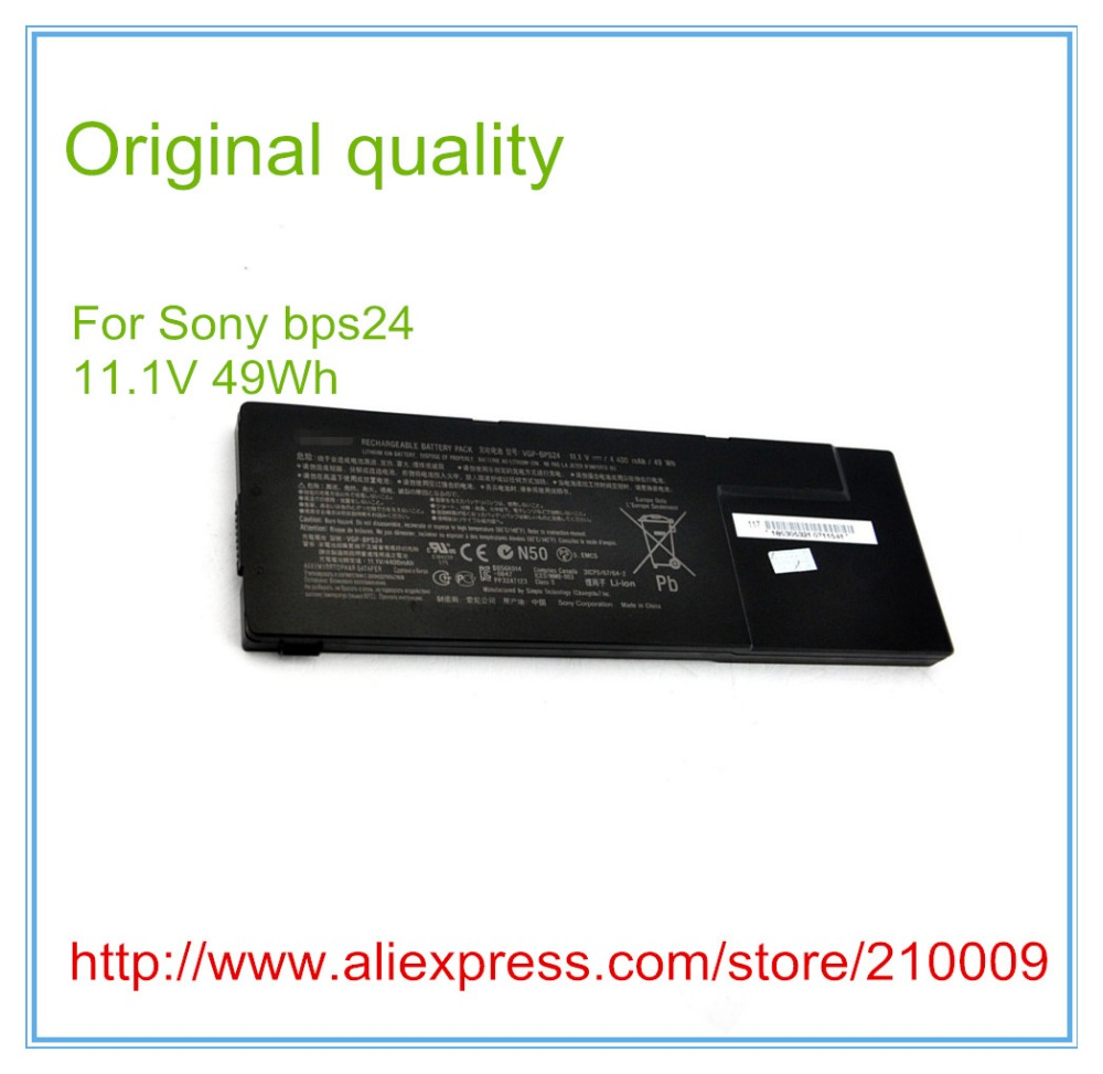 все цены на Original  Laptop battery VGP-BPS24 for Vaio SA SB SC SD SE VPCSA VPCSB 49WH/4400mAh онлайн