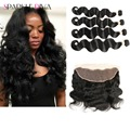 8A Vishine Hair With Frontal Mink Brazilian Body Wave Hair With Frontal Wet And Wavy Virgin Brazilian Hair With Closure