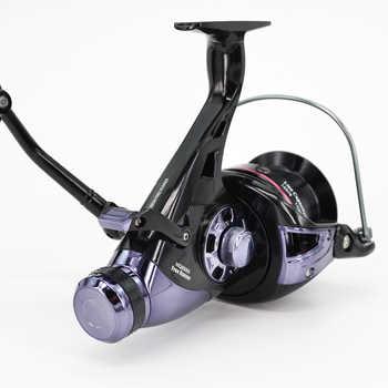 Hirisi Carp Fishing Reels Bait Runner Big Free Runner Double Brake Feeder 10+1 Ball Bearing Spinning Fishing Reel HQ8000