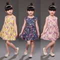 Цветок девочки платья китайский стиль дети летнее платье хлопок красивые детские платья цветочные девушки платье партии костюмы для подростков