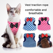 Dog Cat Vest Pet Adjustable Walking Lead Leash Puppy Harness for Small Medium