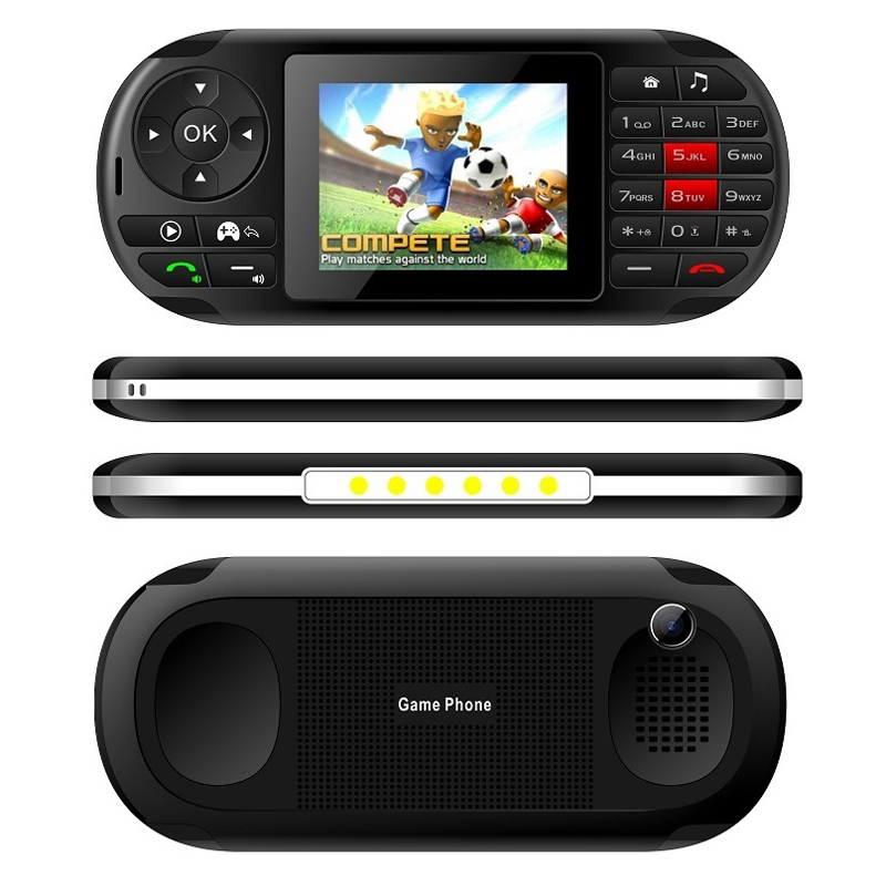 "2019 Popular Ideal Mobile Phone Portable Handheld Game Player 2.8"" LCD Screen Cellphone Wireless FM Camera GPRS Torch Whatsapp(China)"