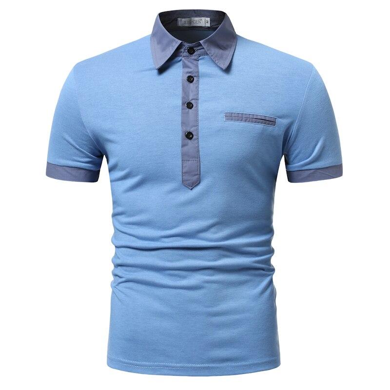 2019 New Man   Polo   Shirt Mens Casual Stitching Cotton   Polo   shirt   polos   para hombre brand Men Short Sleeve High Quantity   polo   men
