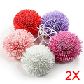 2pcs New Bath/Shower Body Exfoliate Puff Sponge Mesh EVA Colorful Bath Ball TB Sale