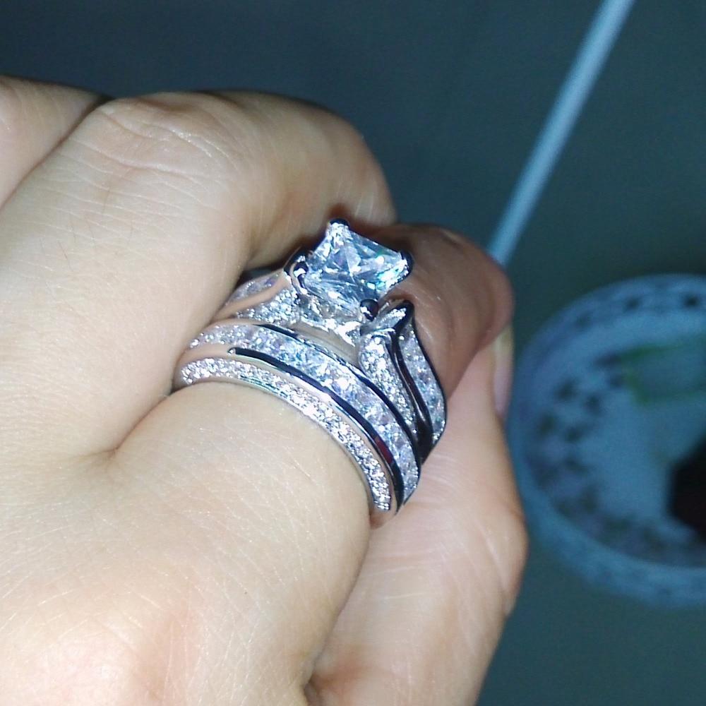 7d13c4334bd4 Choucong infinity anillo Real de plata de ley 925 anillo de boda para mujer  AAAAA Cubic