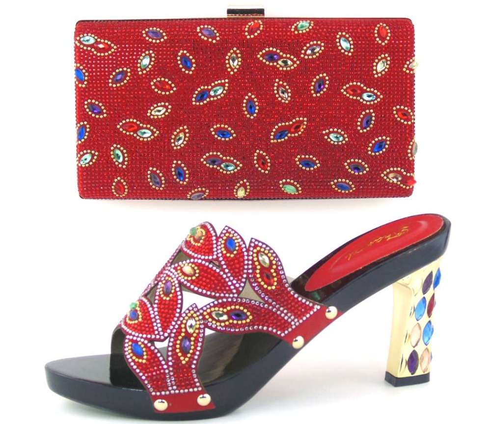 ФОТО Wonderful Italian design PU leather African women shoes and bag set high heel shoes and bag suitable matched for dress !!MOH1-3